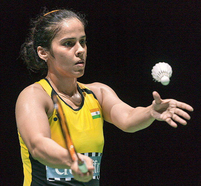 Saina during the match
