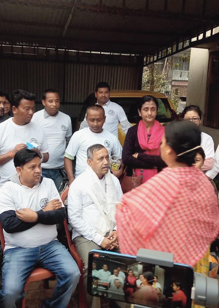 Gautam Deb at Didi Ke Bolo campaign.