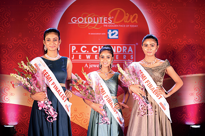 """""""I participated in P.C. Chandra Goldlites Diva because of my keen interest in acting and modelling. I am a pianist and a dancer and I want to show all my talents. This pageant gave me a great platform to showcase my talents,"""" said Ankita Mitra(left), a geology student from ABN Seal College in Cooch Behar.   """"Participating in P.C. Chandra Goldlites Diva was a dream come true. My mother is my inspiration and I wish to become an actress,"""" said Tapa Mohanto (centre), a resident of Pilkhana Saheb Colony, Cooch Behar.  """"I participated in this pageant because so far modelling was my passion but now I want to convert it into my profession. I look up to Sushmita Sen. I wish to be Miss India someday,"""" said Debasmita Modak (right), a geography student at Netaji Open University."""