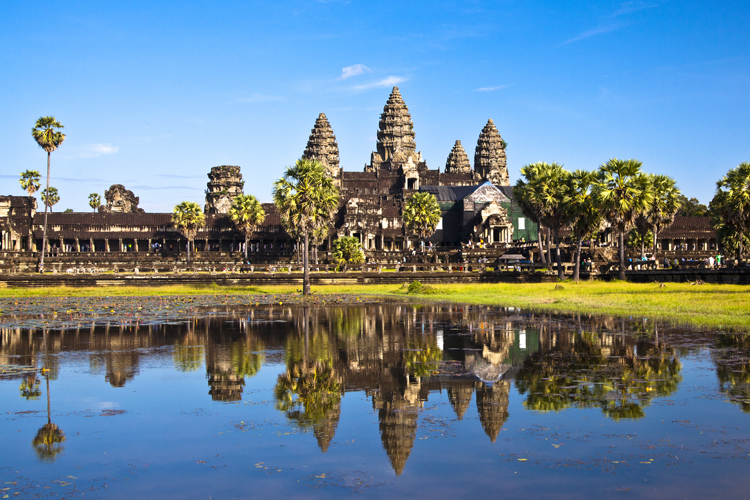 Angkor Wat's stupendous pile speak of Greater India's peaceful law-abiding societies and governments