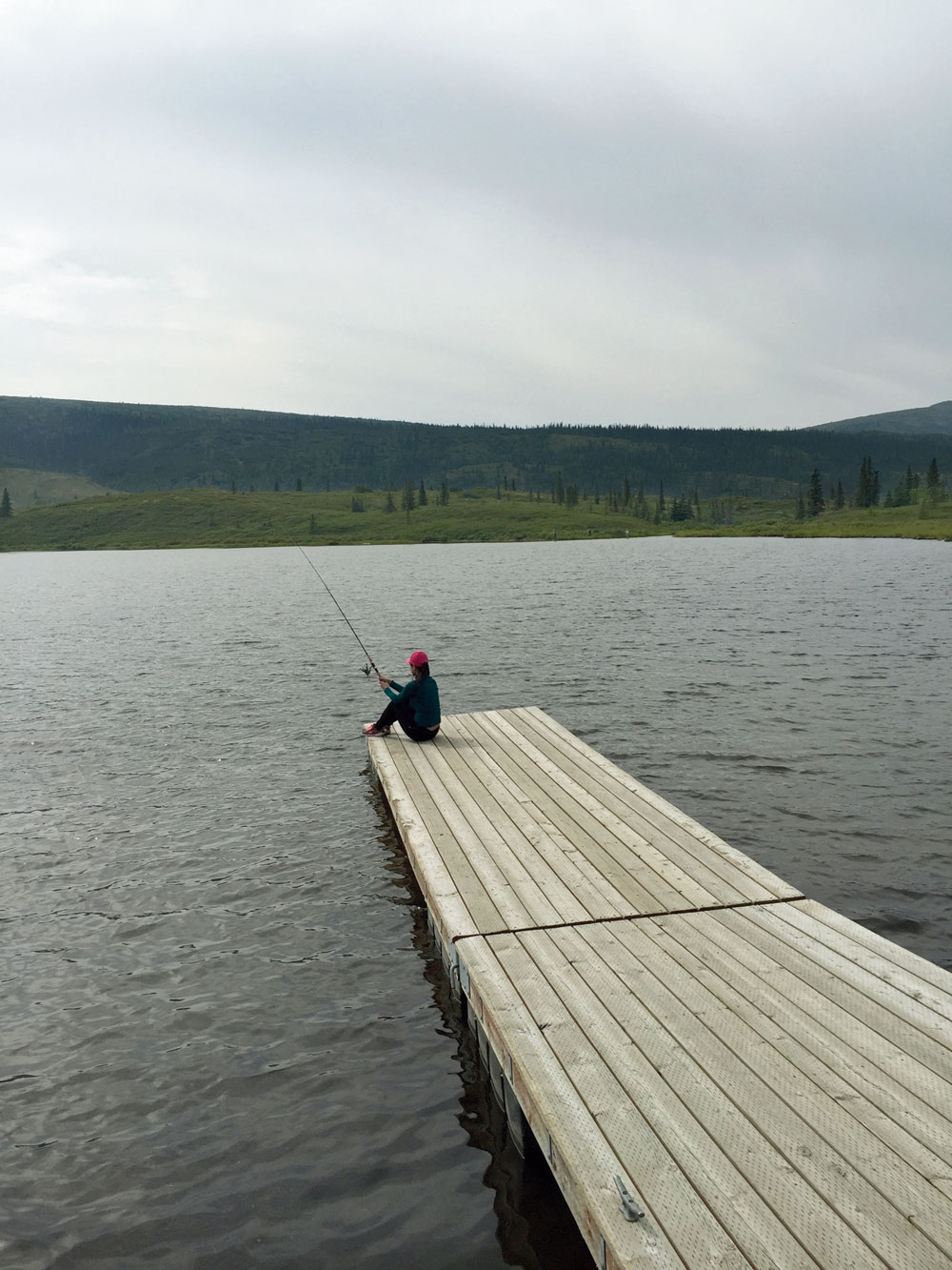 Fishing in the picturesque Wonder Lake