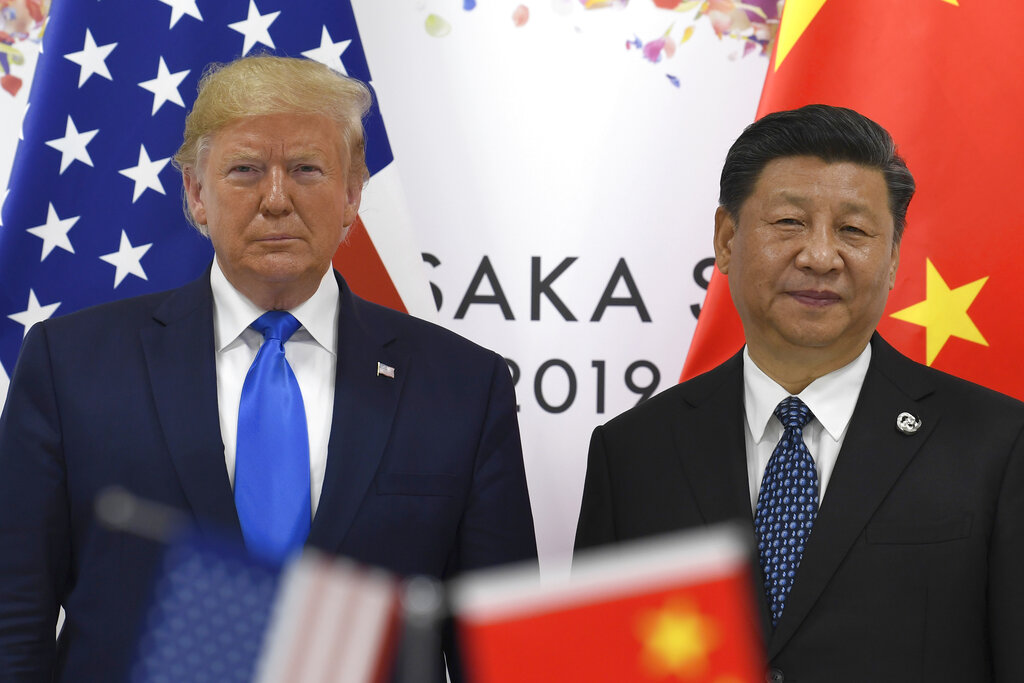 President Donald Trump with Chinese President Xi Jinping on the sidelines of the G20 summit in Osaka on June 29.