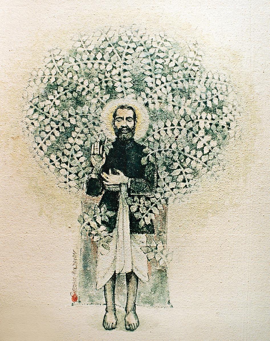 A painting of Sri Ramakrishna by Subrata Choudhury