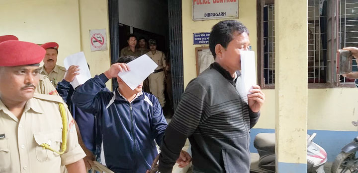 The accused after the arrest in Dibrugarh