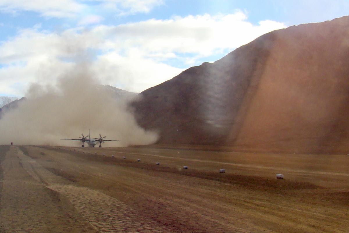 The Daulat Beg Oldi airstrip