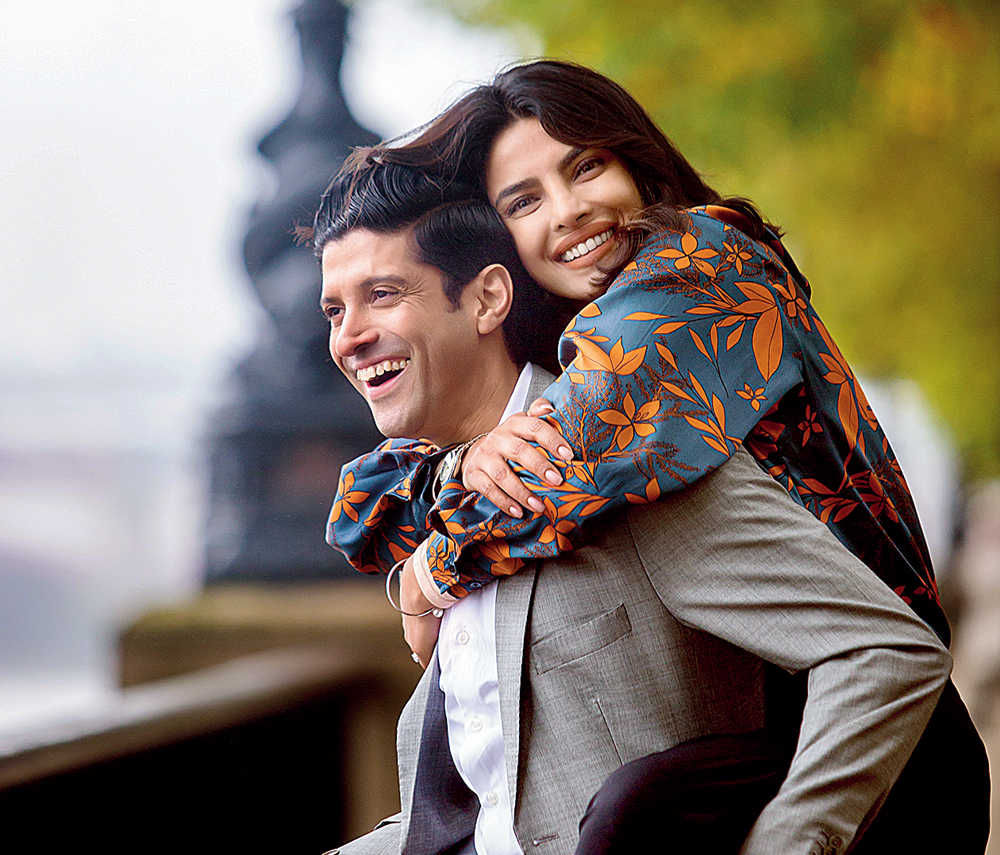 Farhan Akhtar with Priyanka Chopra in 'The Sky is Pink'