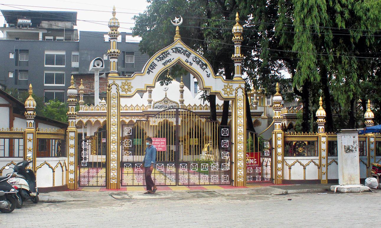 The Machkhowa pakka masjid closed on the eve of Id in Guwahati on Sunday.