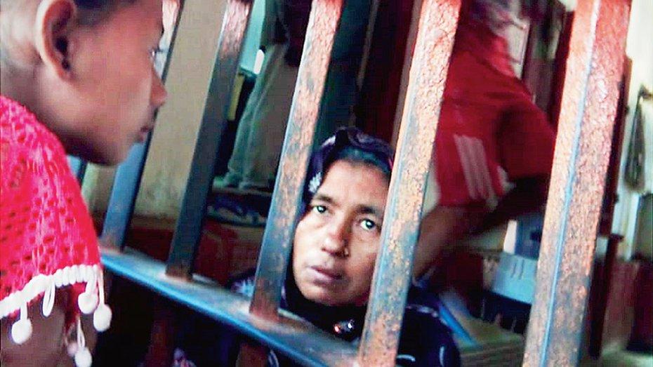 Detention camp inside Silchar jail, Assam.