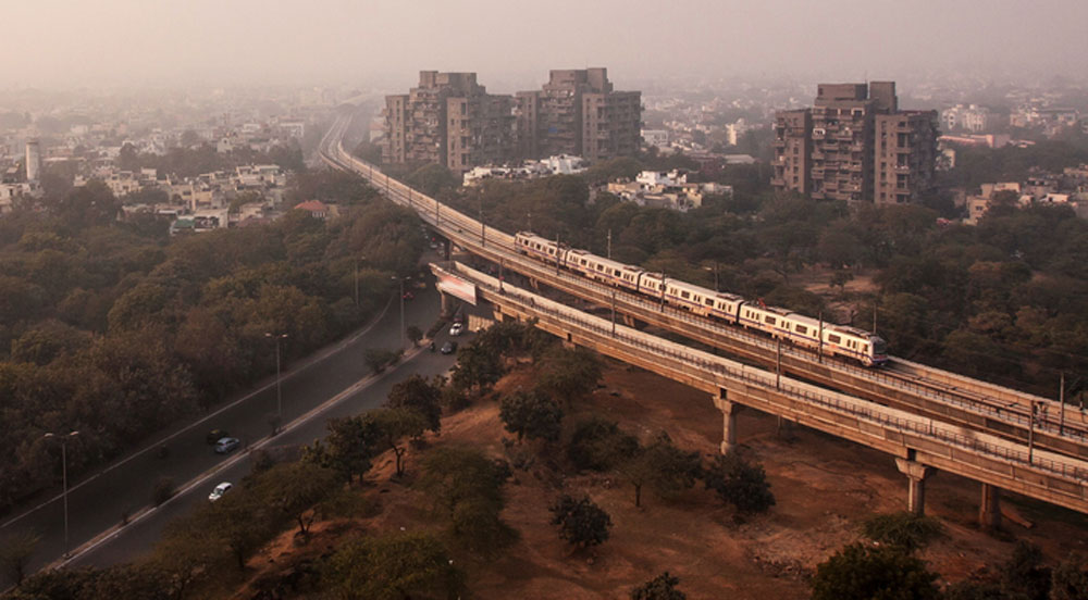 A view of the Delhi Metro. Patna is to have 33.1-km-long tracks with two corridors — east-west and north-south