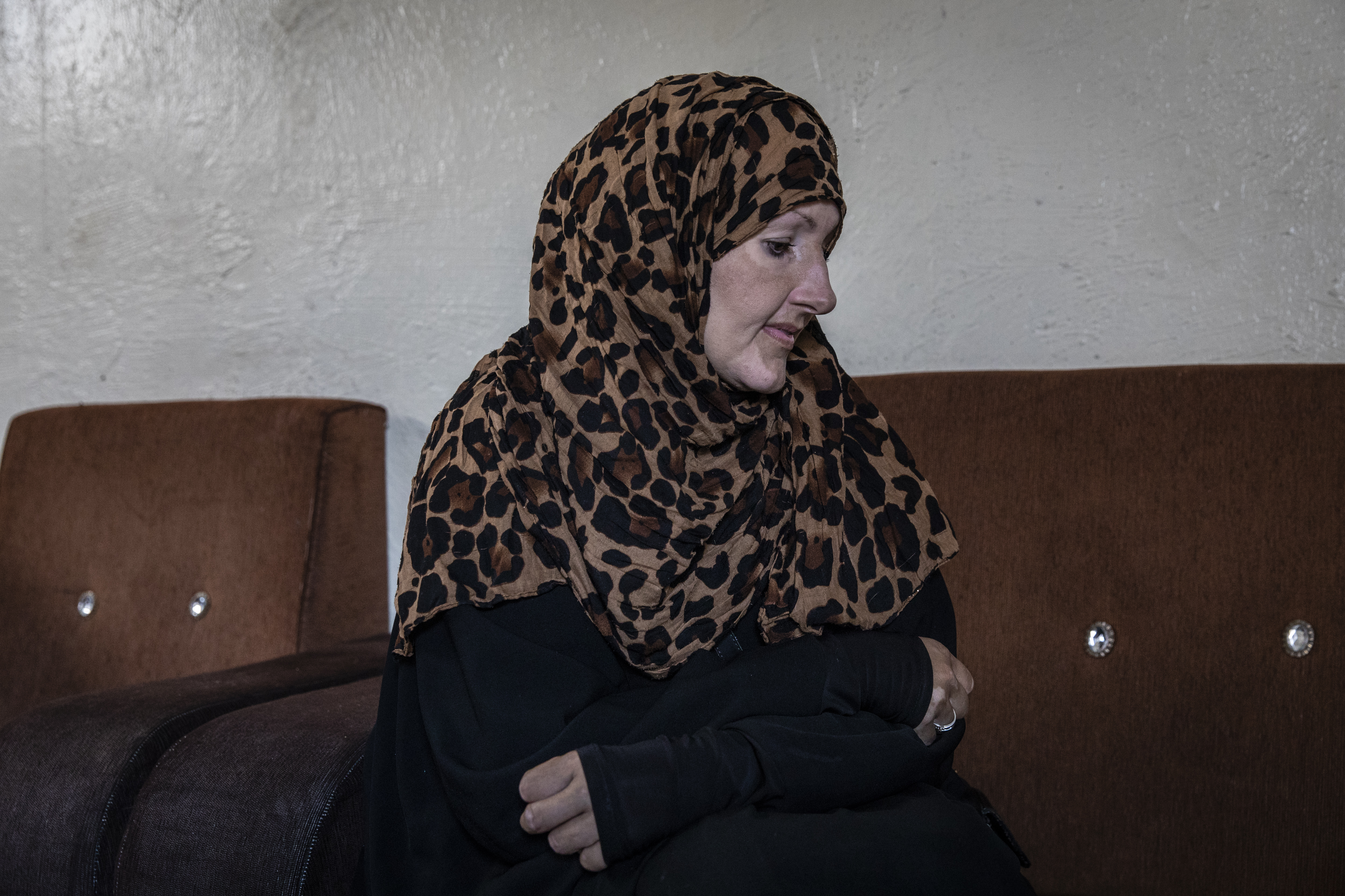 Kimberly Polman, who was born into a Mennonite community in Canada and traveled to live in the Islamic State group's self-declared caliphate, at the Al Hawl detention camp in Syria.