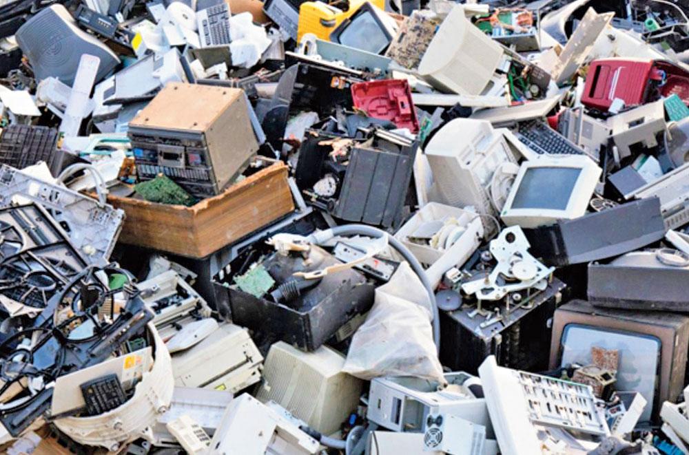 Dumped e-waste