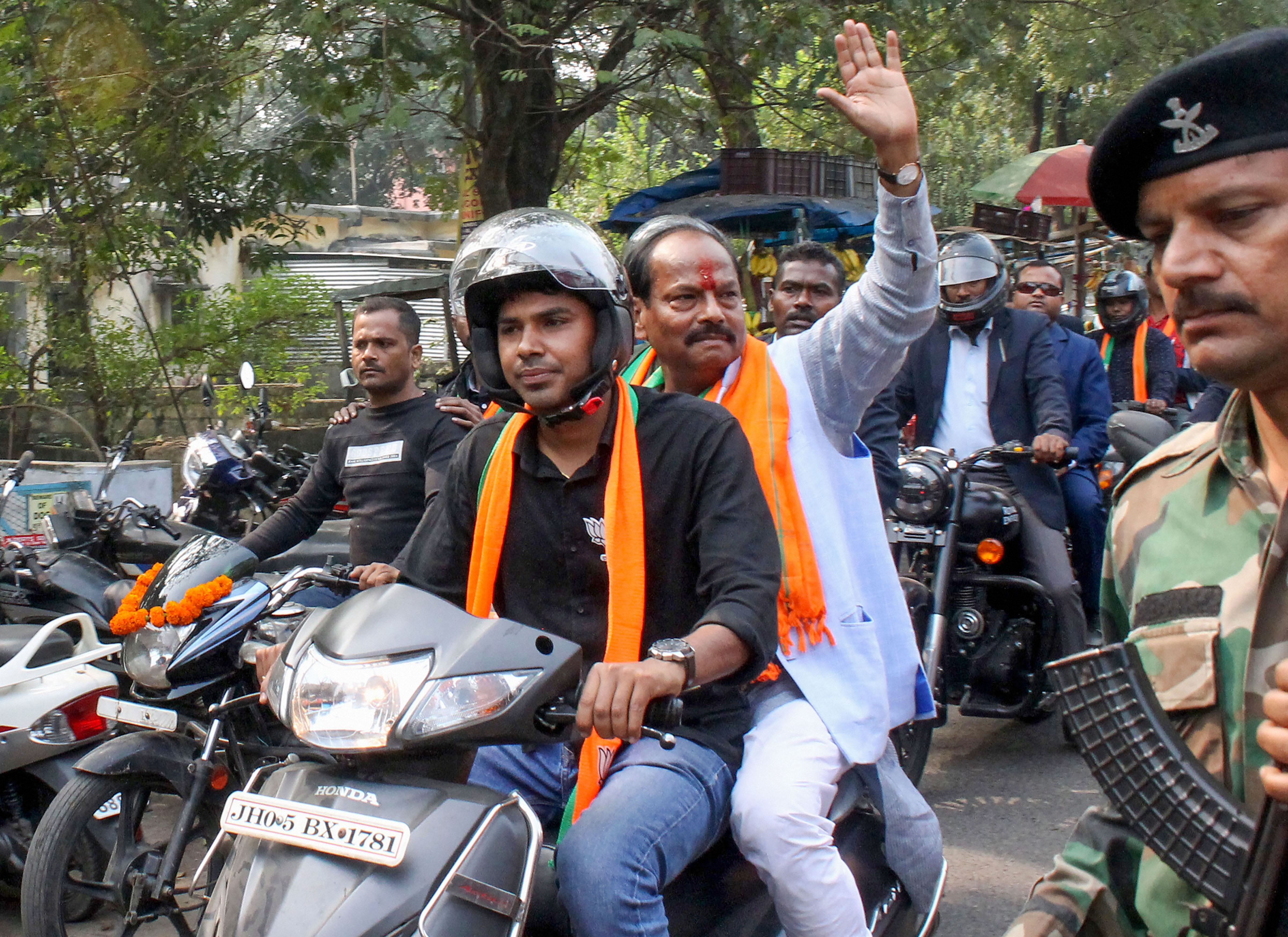 Raghubar Das fielded as BJP candidate from East Jamshedpur campaigns ahead of the Jharkhand Assembly Elections, in Jamshedpur, Wednesday, November 4, 2019