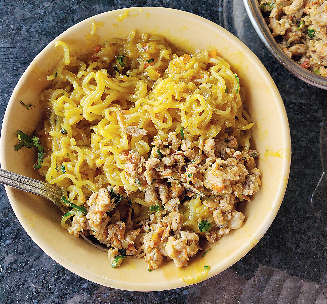 A bowl of hot Maggi is comfort food on a mountain trip
