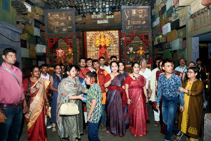 Children with autism and their parents at the Samaj Sebi Sangha Puja on Lake Road