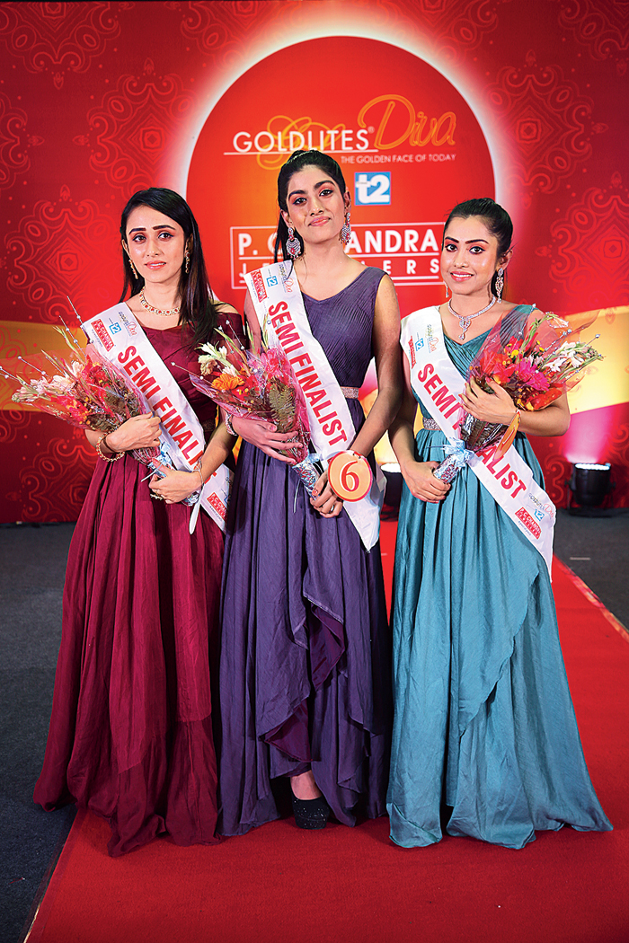 """""""I am interested in modelling, which is why I took part in this pageant. I never imagined that I would be selected for the semi-final round. But now my dream is to win. I am a fresher with no prior experience at all,"""" said Srijana Sharma (left), a third-year student of Parimal Mitra Smriti Mahavidyalaya.   """"I wanted to come out of my comfort zone and modelling has always been my passion so I chose to participate in this pageant. This platform is helping me to overcome my fears and also face the camera. My dream is to be a Victoria's Secret model someday,"""" said Ananya Roy (centre), a second-year mass communication and journalism student of Siliguri College.    Reshma Chakraborty (right)"""