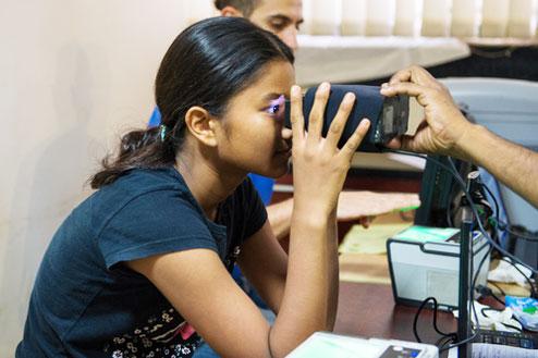 Retina scanning for Aadhaar card