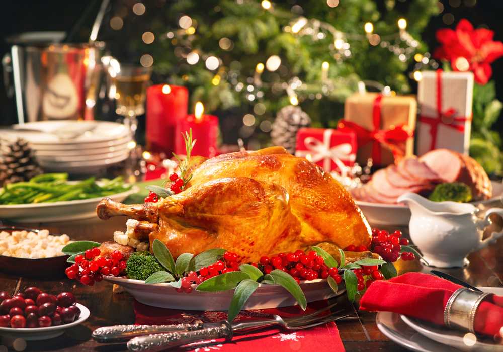 The turkey is at the centre of the traditional English Christmas feast