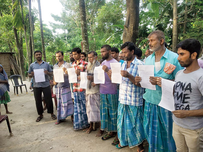 Id parade: Villagers in Baksa district want to understand the content of the NRC notice served to them
