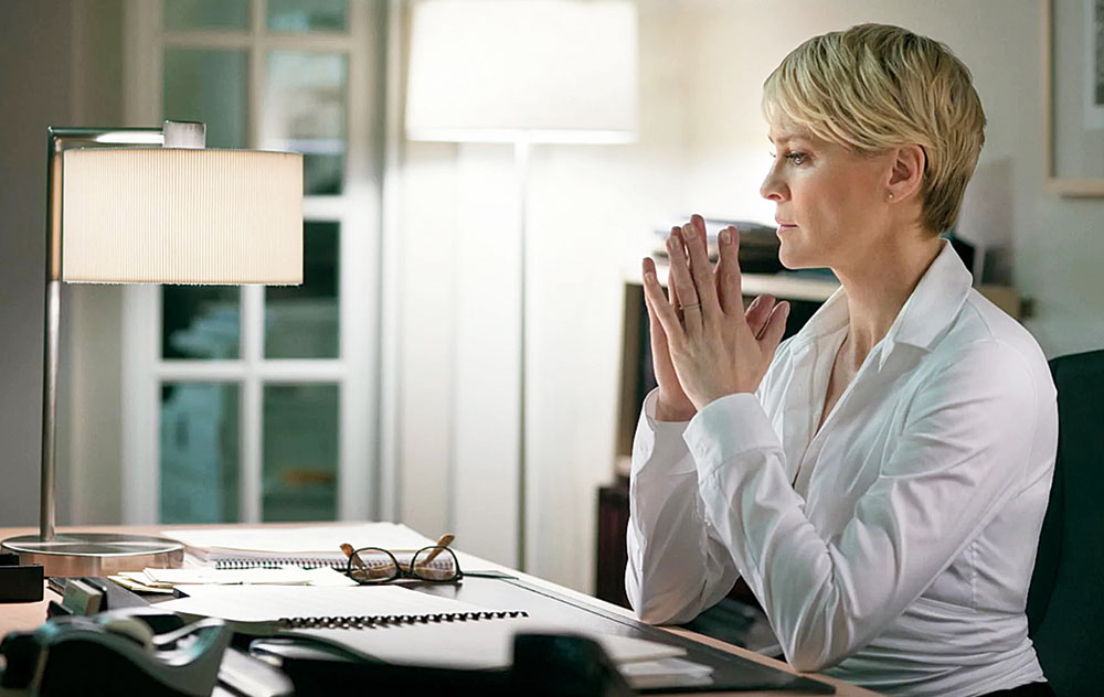 Robin Wright in a scene from House of Cards