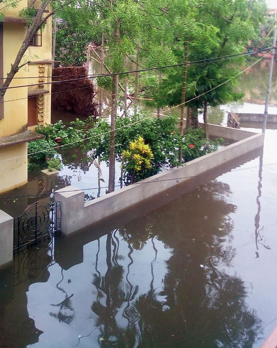 The waterlogged locality near Santosh Co-Operative Society
