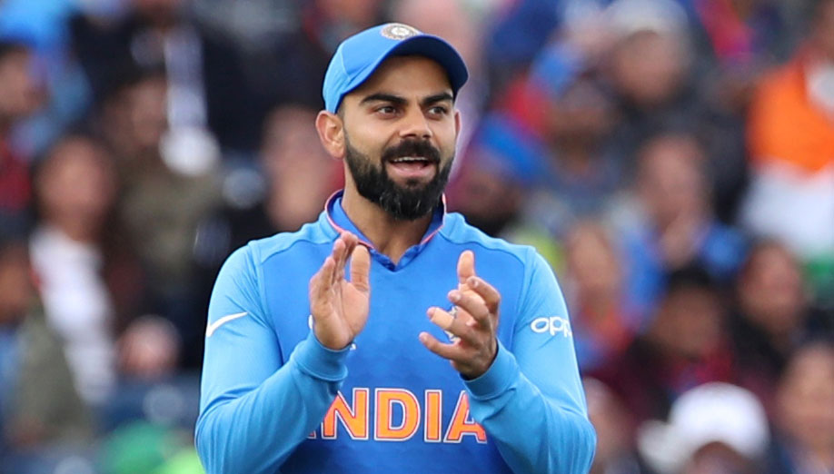 Virat Kohli during the ICC Cricket World Cup match between India and Pakistan at Old Trafford in Manchester, England, on June 16, 2019.