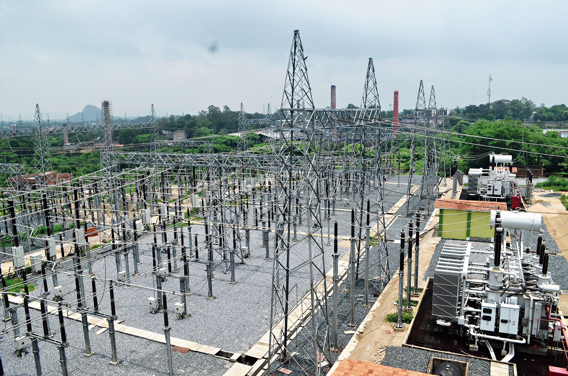 The substation of Jharkhand Urja Sancharan Nigam Ltd at Kandra in Dhanbad.