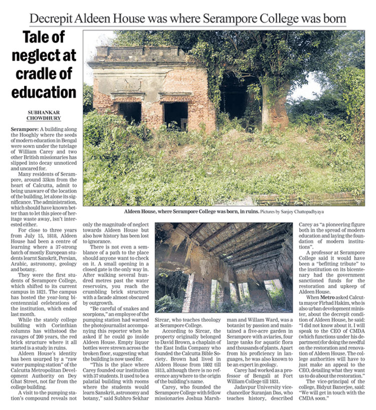 The Telegraph report on Aldeen House on January 4, 2019