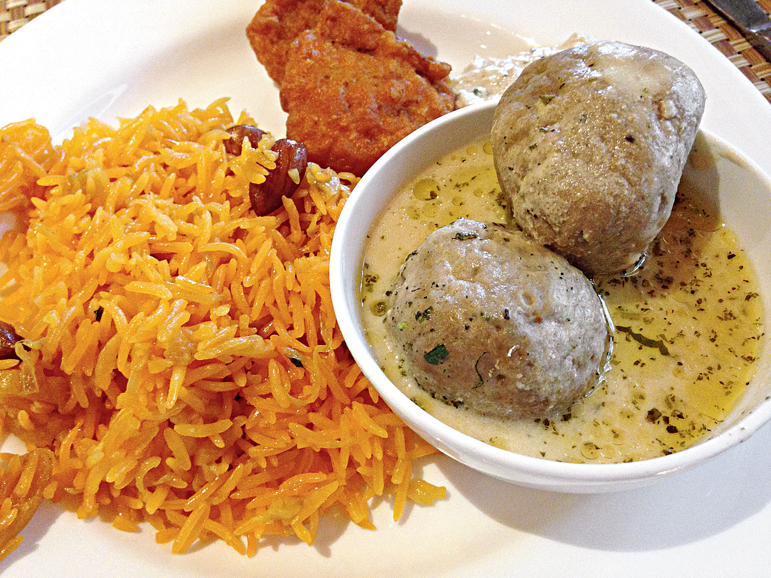 Kashmiri food is rich and delicious. The Gushtaba and Rhubani Pulao made for a yum lunch