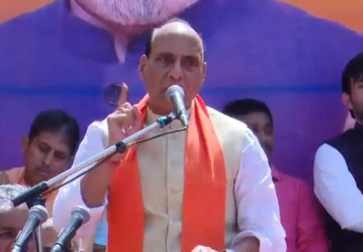 Why shouldn't Modi get credit for Balakot strike, asks Rajnath