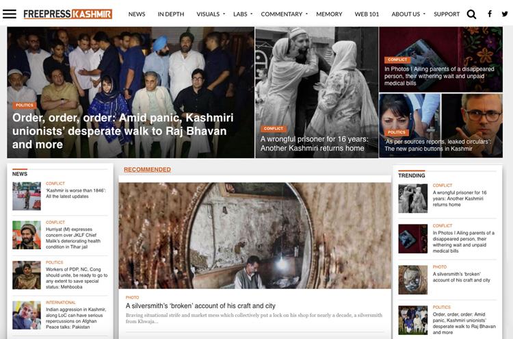 The Free Press Kashmir home page
