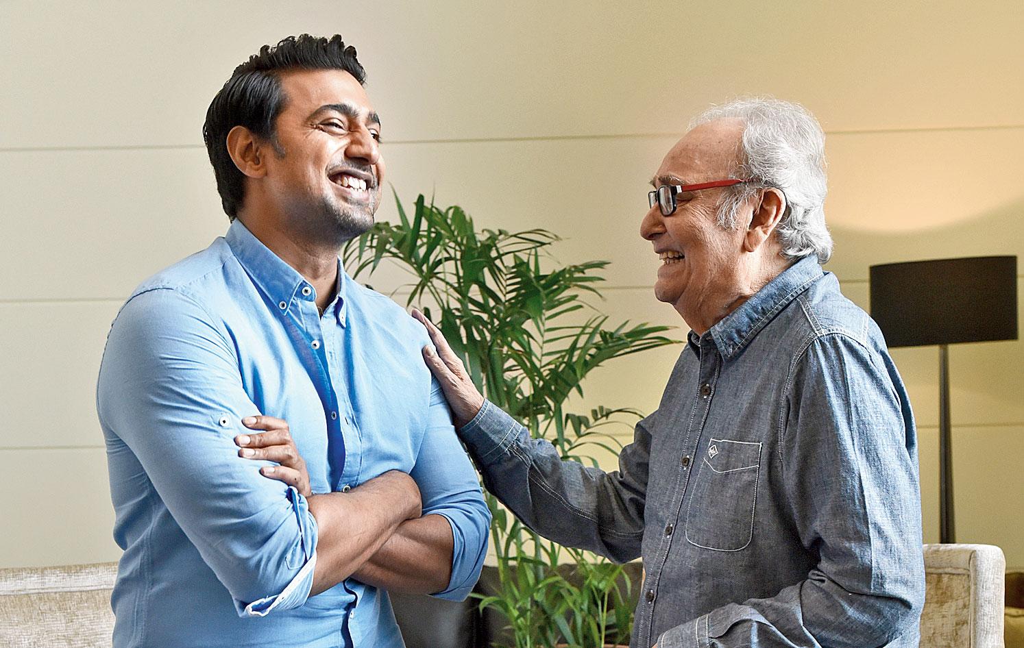 Soumitra Chatterjee and Dev on their film Sanjhbati