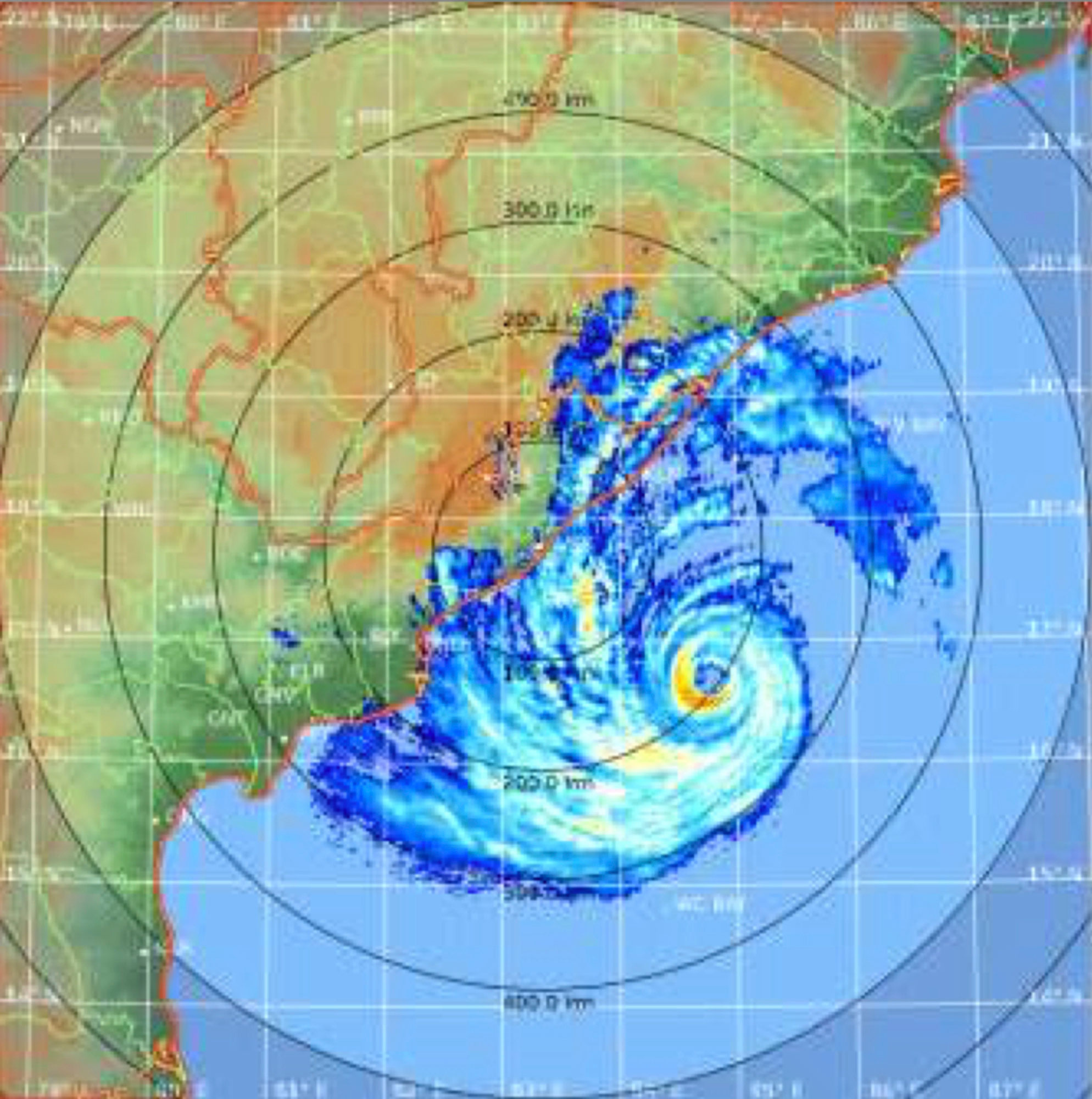In this satellite image acquired from the India Meteorological Department, shows Cyclone Fani over the Bay of Bengal on May 2, 2019.