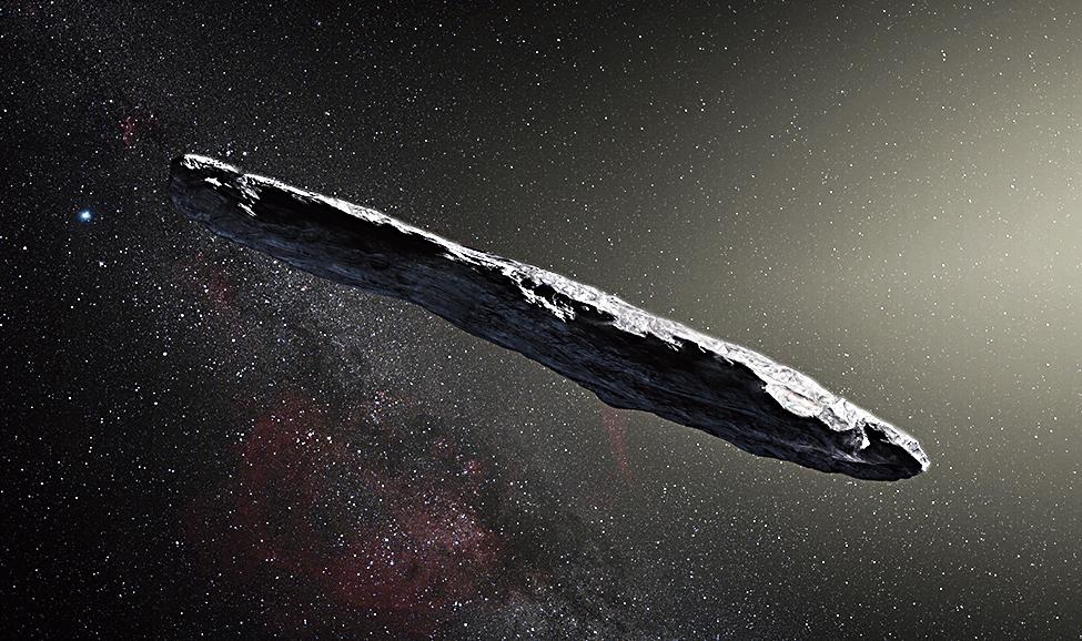 Illustration of Oumuamua.