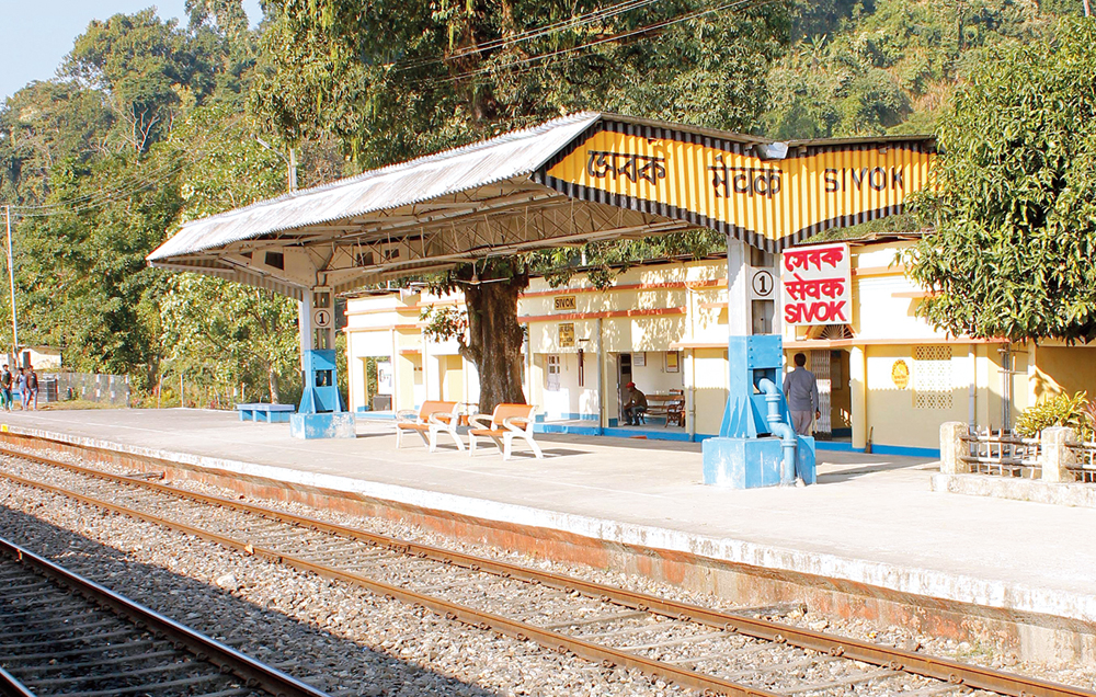 The Sevoke railway station from where the tracks will connect Rangpo in Sikkim