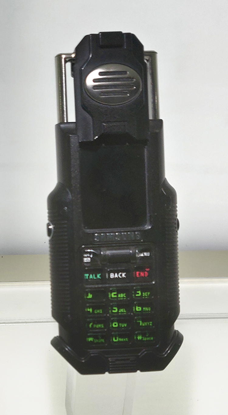 The Matrix phone — SPH-N270 (2003) from Samsung: The phone was designed for the film The Matrix Reloaded. After it was featured in the film, only 5,000 limited editions capable of actual calls were manufactured for sales