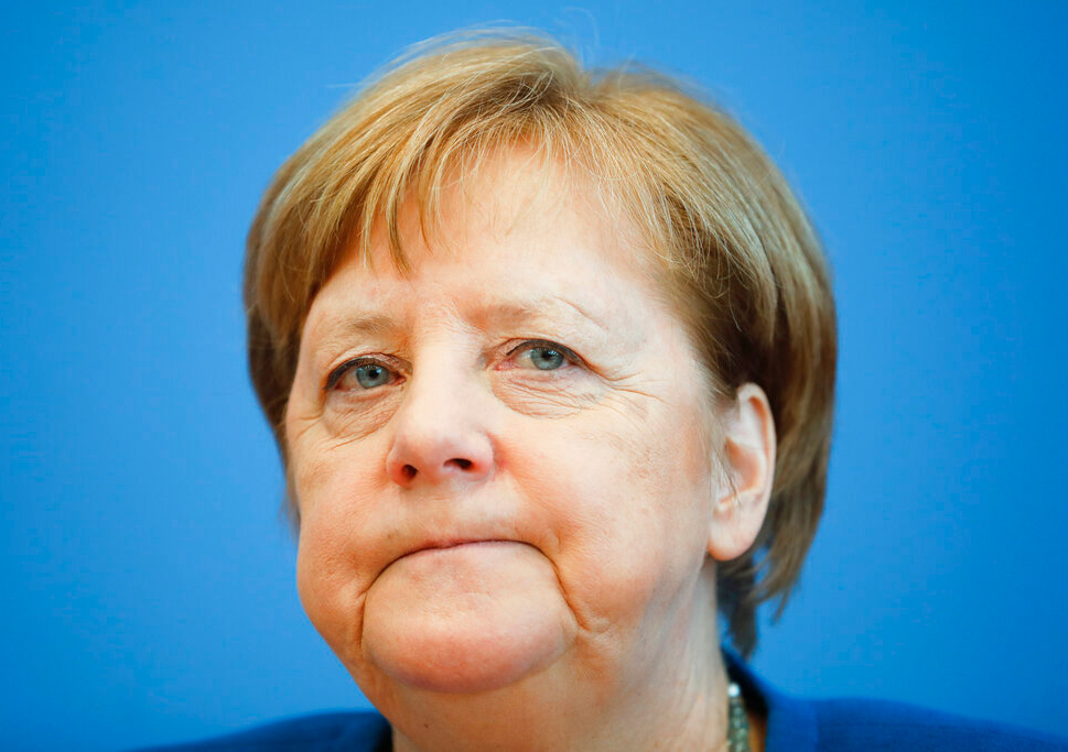 German Chancellor Angela Merkel in Berlin on Wednesday.