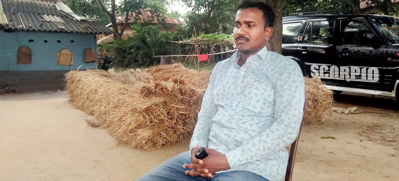 Shyamal Mahato in Lalgarh.