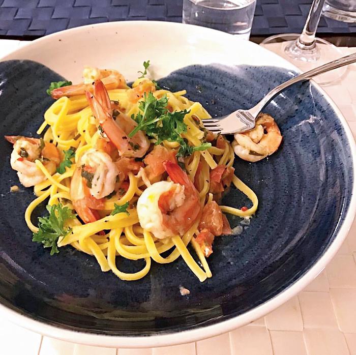 Seafood & White Wine Spaghetti