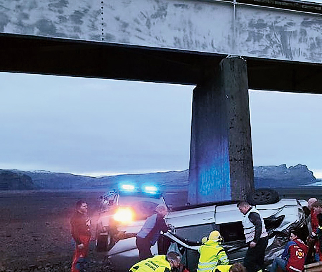 The SUV that crashed in Iceland.
