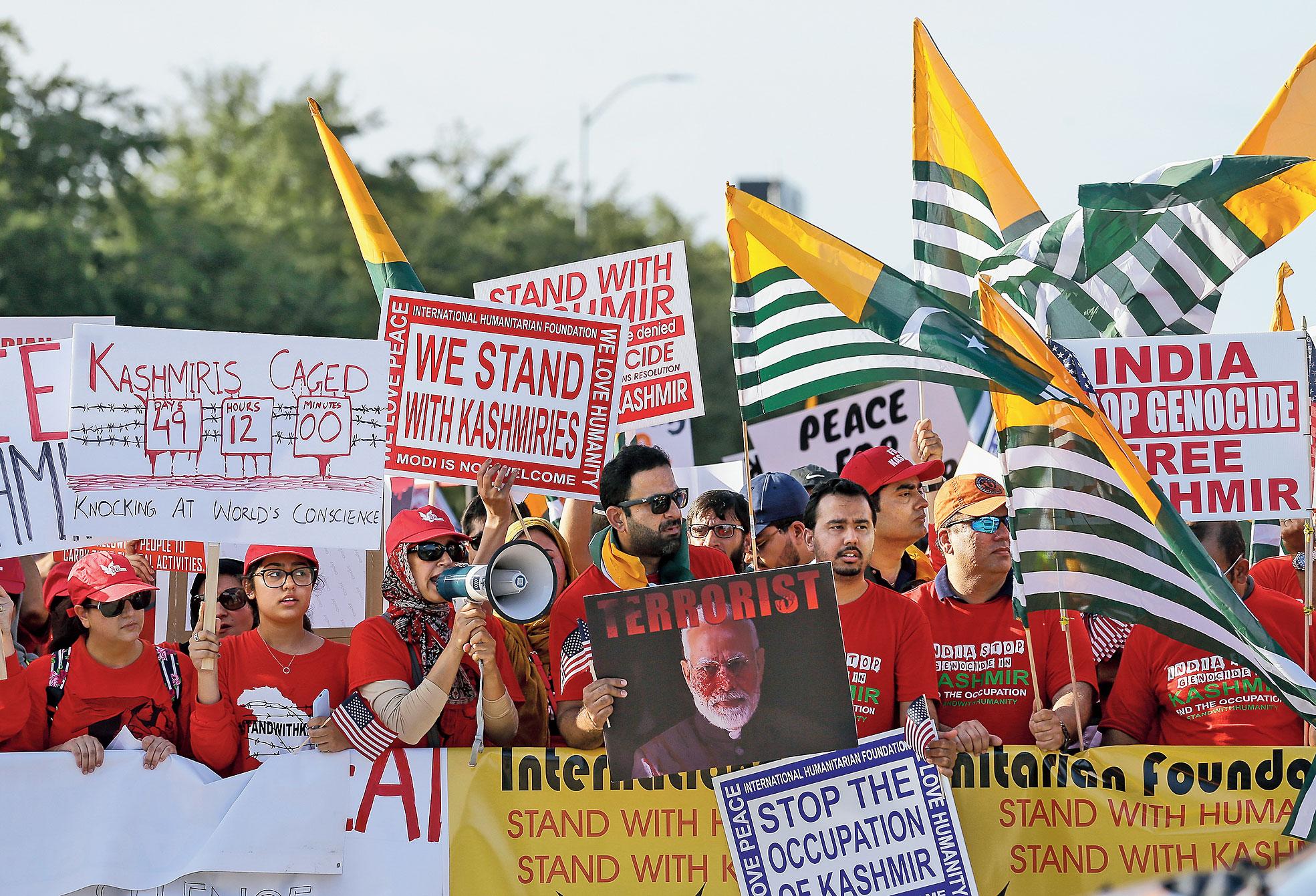 A protest against Narendra Modi in Houston on September 22.