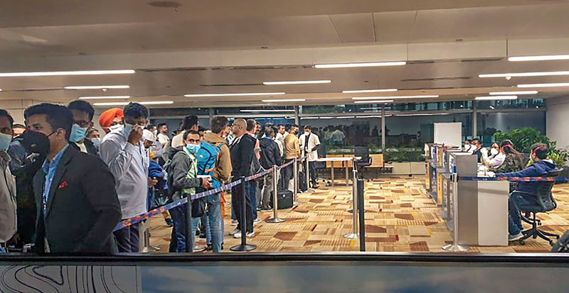 Arrangements for segregation of international passengers arriving from 15 identified countries at Delhi Airport in the wake of COVID19