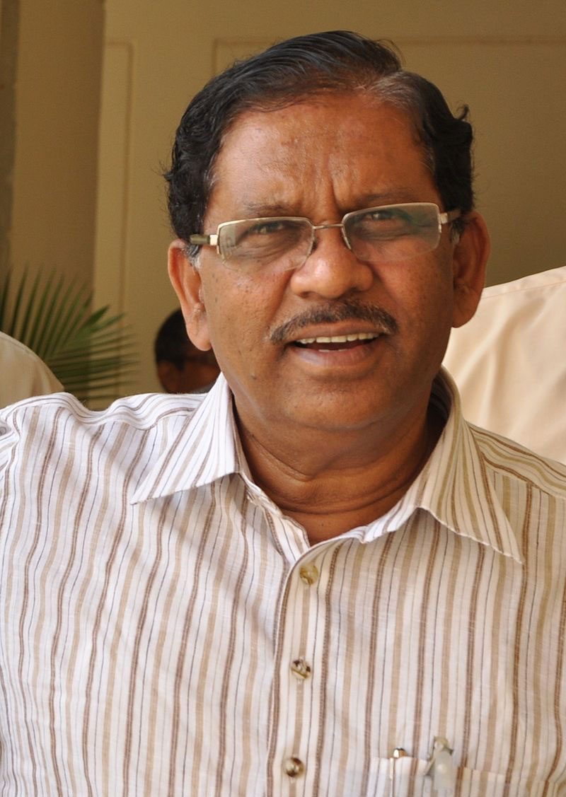 They covered (in picture) G. Parameshwara's Bangalore home and an unspecified number of businesses associated with him, including the offices of educational institutions he runs in nearby Tumkur.