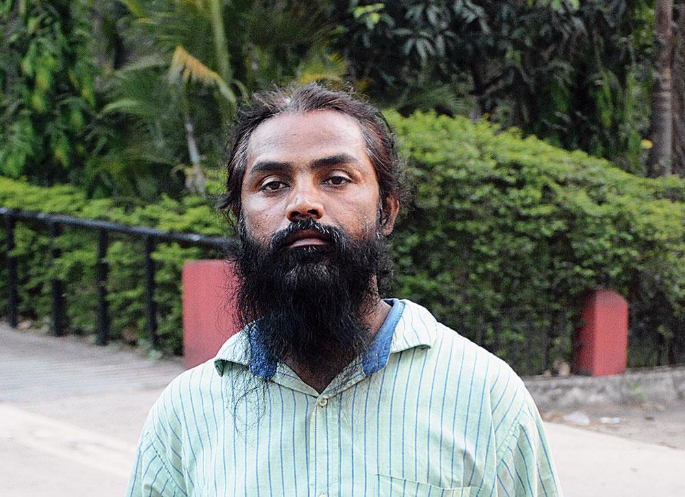 Jeetrai Hansda outside Sitaramdera court on Sunday.