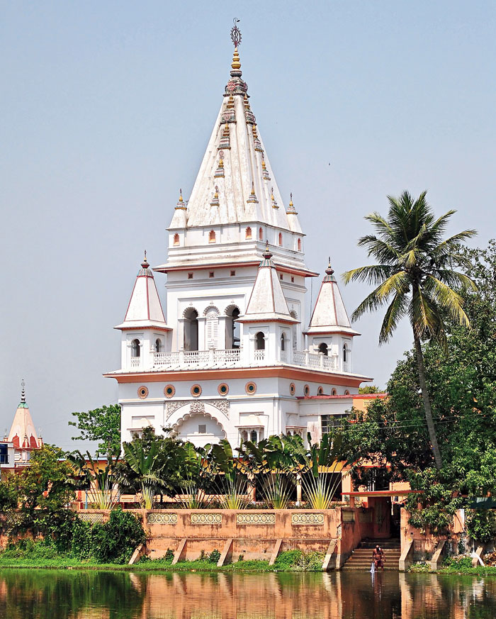 Mayapur temple in Nabadwip, said to be the birthplace of Chaitanya Mahaprabhu, a 15th century Vaishnava saint and social reformer