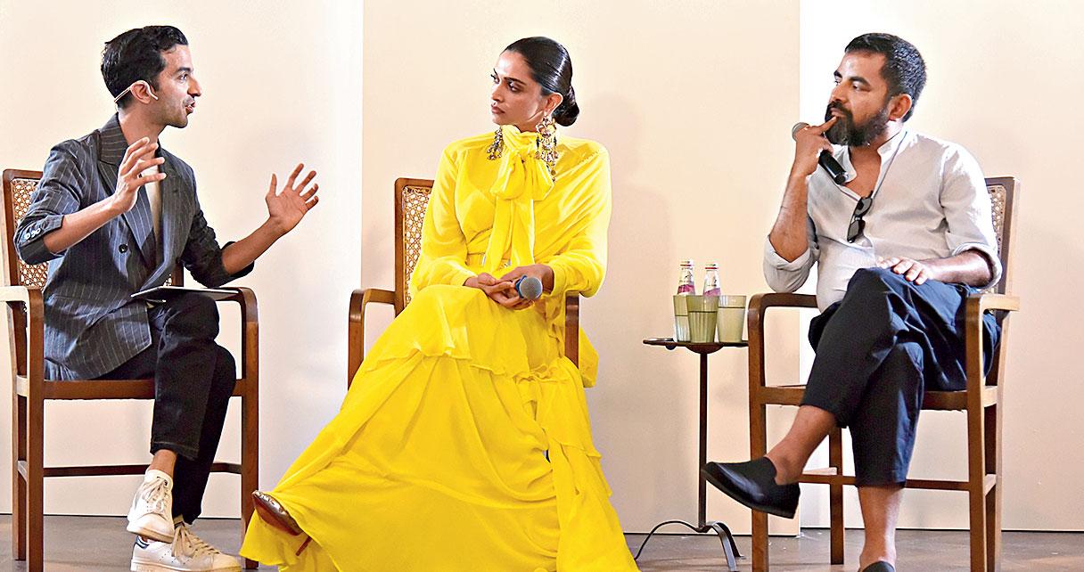 Imran Amed, Deepika Padukone and Sabyasachi Mukherjee in conversation at Soho House in Mumbai