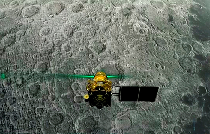 Live telecast of soft landing of Vikram module of Chandrayaan 2 on lunar surface, in Bengaluru, Saturday, Sept. 7, 2019