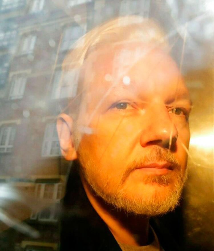A file photo of Julian Assange