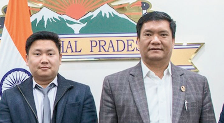 Khandu during the review meeting in Itanagar on Wednesday.