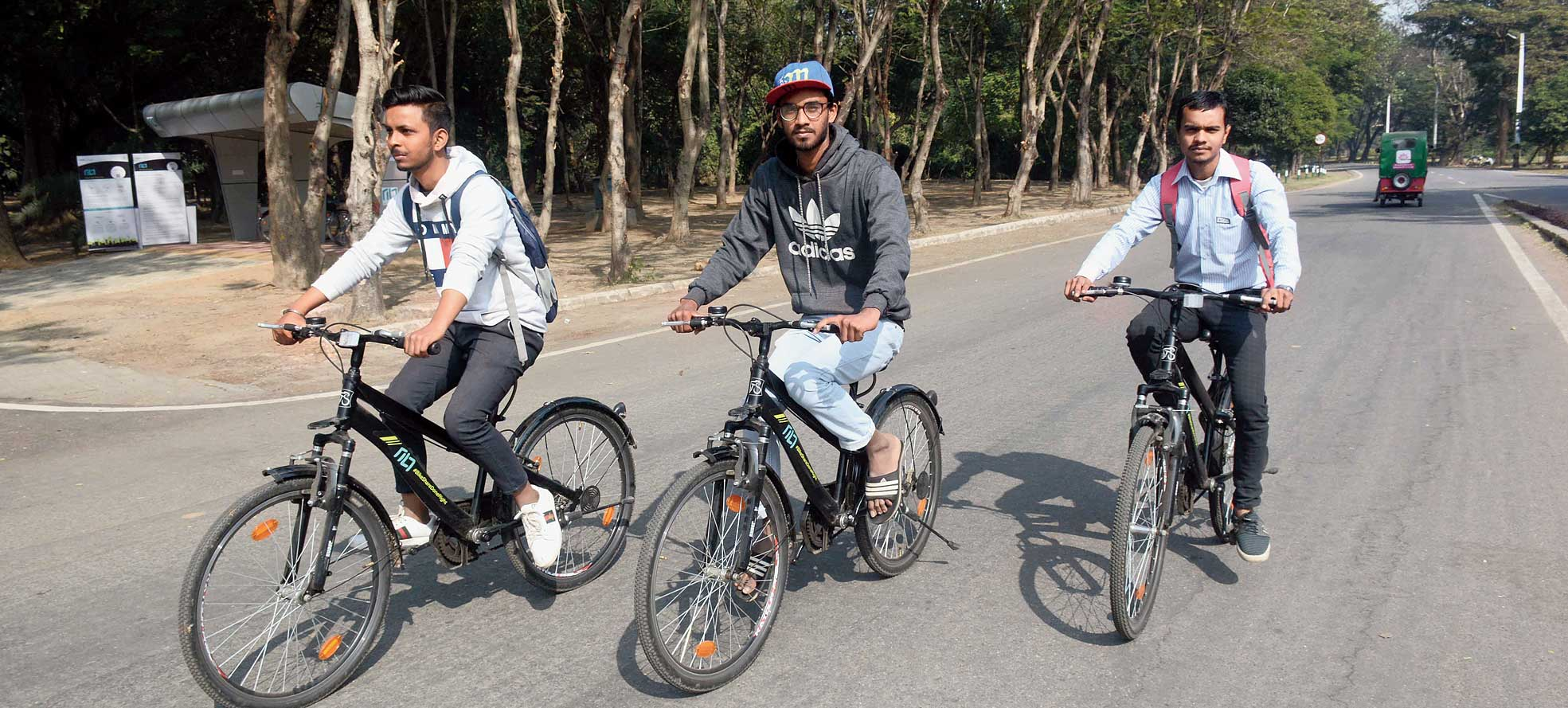 Riders at Jubilee Park in Jamshedpur earlier this week.