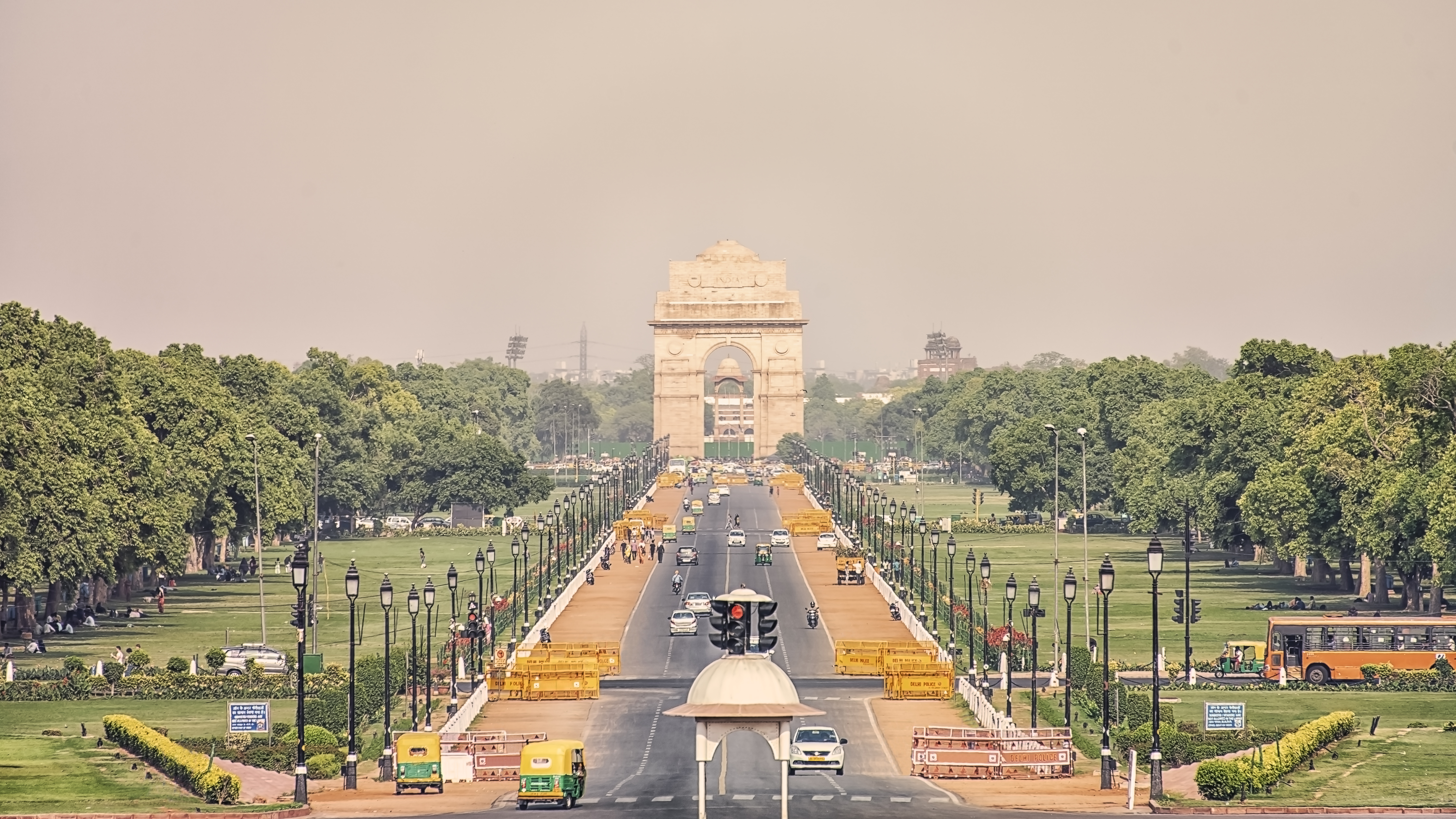 The India Gate which is in Lutyens Delhi where a person wanting to book the 5 Ashoka Road address, which is popular as a wedding venue, can also check its availability on a particular date, charges and rules among other details through the mobile application, the official said.